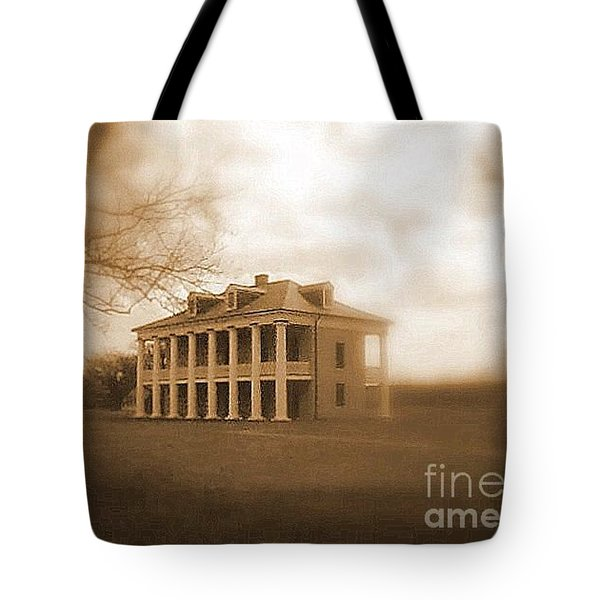 Tote Bag featuring the photograph Malus Beauregard Historic Plantation Chalmette National Historic Civil War Battlefield Site by Michael Hoard