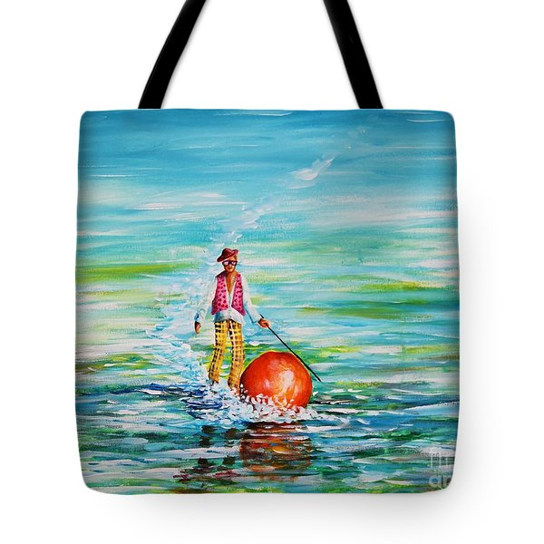 Strolling On The Water Tote Bag