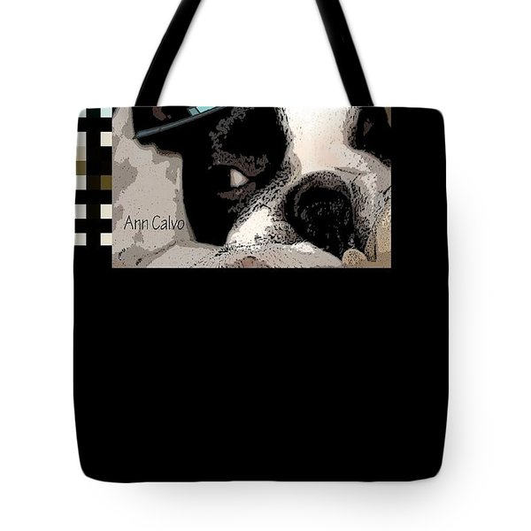 Tote Bag featuring the digital art Mamia Mia by Ann Calvo