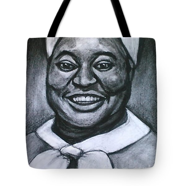 Tote Bag featuring the drawing Hattie by Gabrielle Wilson-Sealy