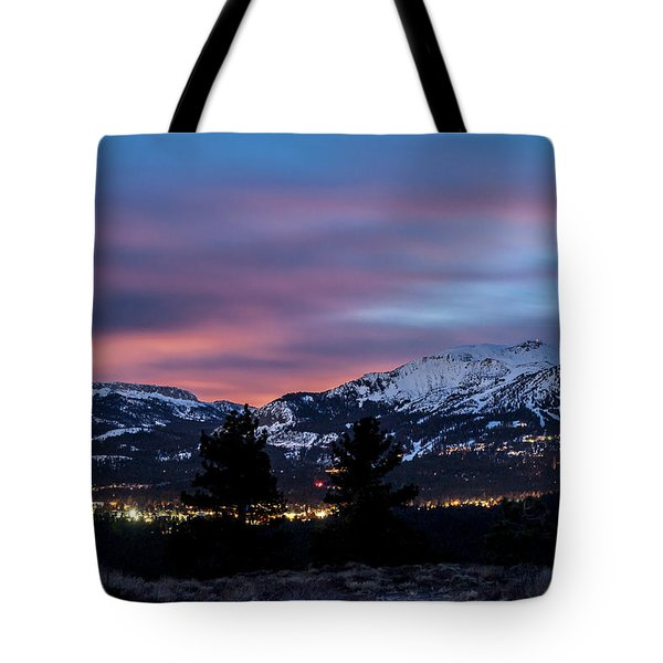 Mammoth At Night Tote Bag