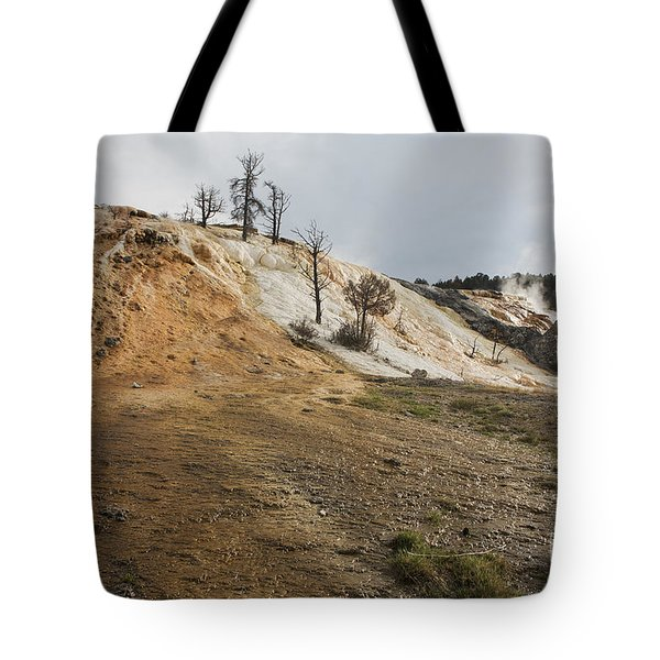 Tote Bag featuring the photograph Mammoth Hot Springs by Belinda Greb