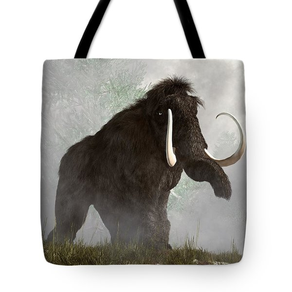 Mammoth In The Fog Tote Bag