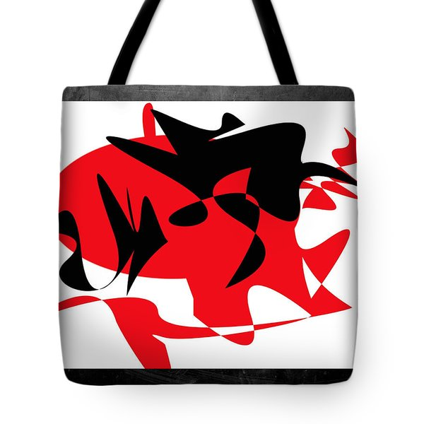 Tote Bag featuring the digital art Man And Wife by Karo Evans