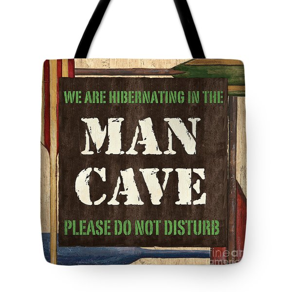 Man Cave Do Not Disturb Tote Bag