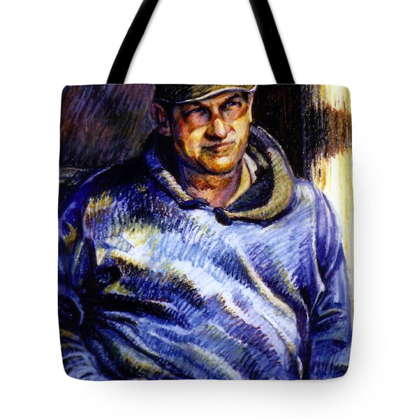 Man In Barn Tote Bag