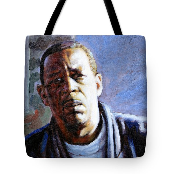 Man In Morning Sunlight Tote Bag by John Lautermilch