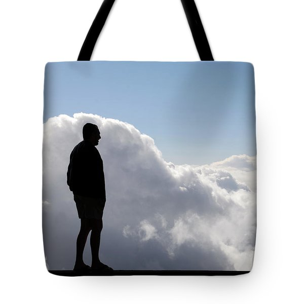 Man In The Clouds Tote Bag