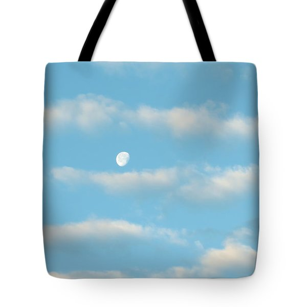 Tote Bag featuring the photograph Man In The Moon In The Clouds by Fortunate Findings Shirley Dickerson