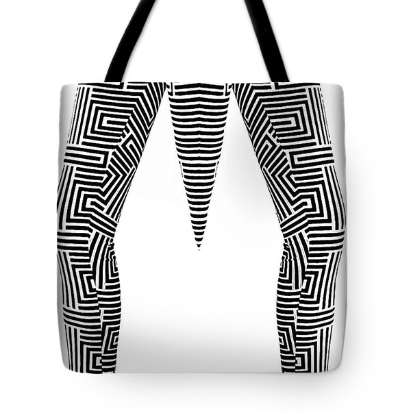 Tote Bag featuring the painting Man Maze by Rafael Salazar