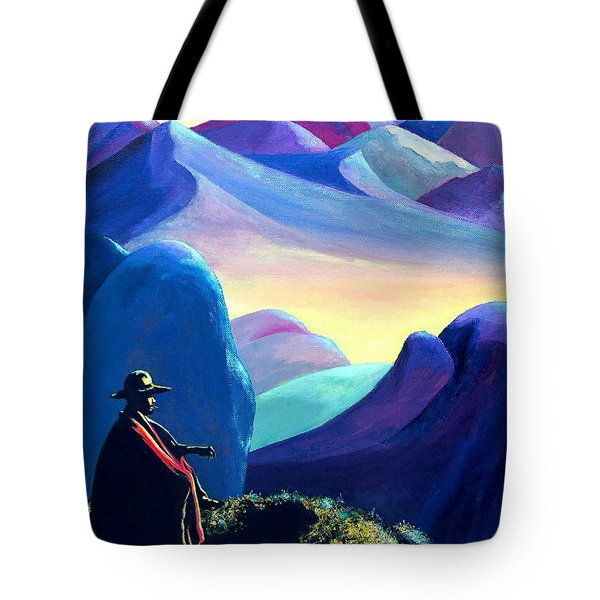 Man Meditating Tote Bag