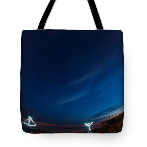Man Of Light Tote Bag