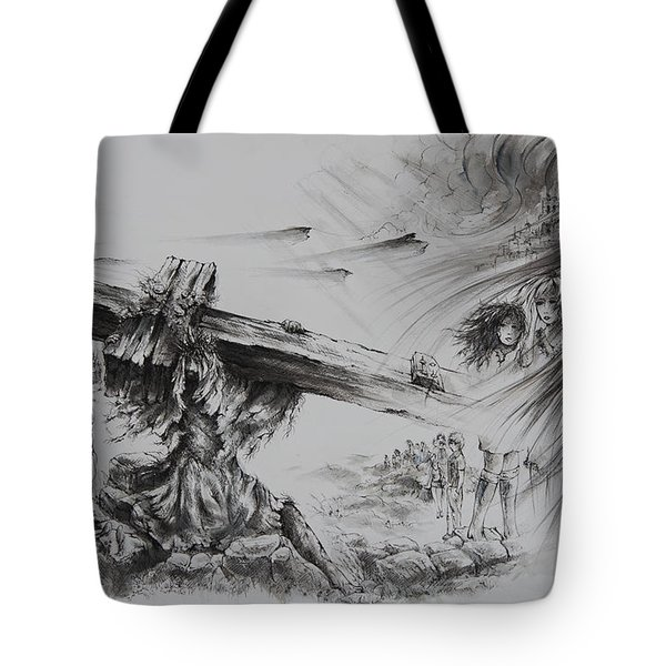 Man Of Sorrows Tote Bag by Rachel Christine Nowicki