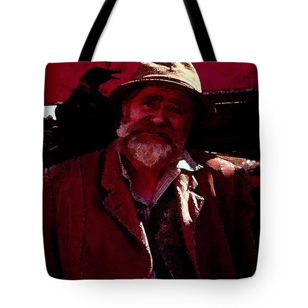 Tote Bag featuring the digital art Man Of The Sea by Cathy Anderson