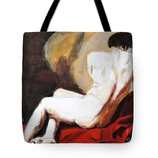 Tote Bag featuring the painting Man Power by Judy Kay