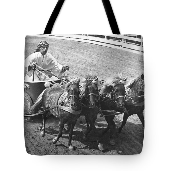 Man Riding In Chariot Tote Bag