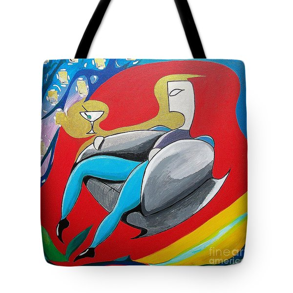 Man Sitting In Chair Tote Bag