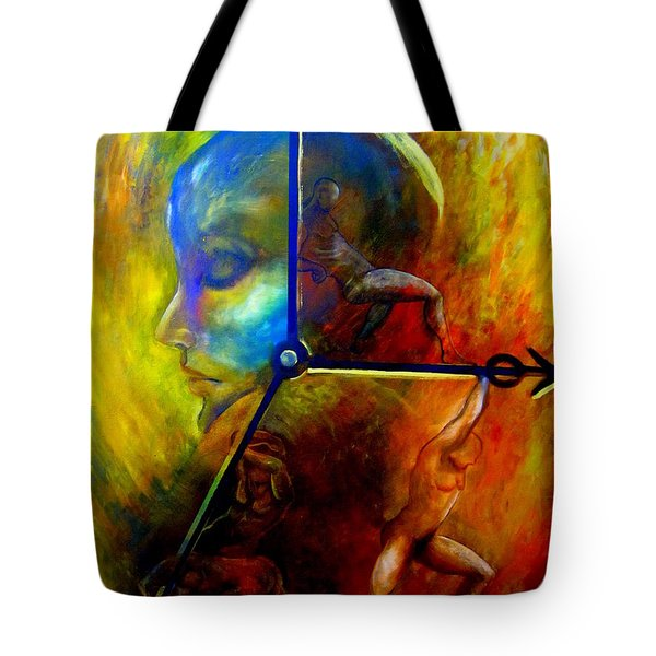 Man Vs Time Tote Bag