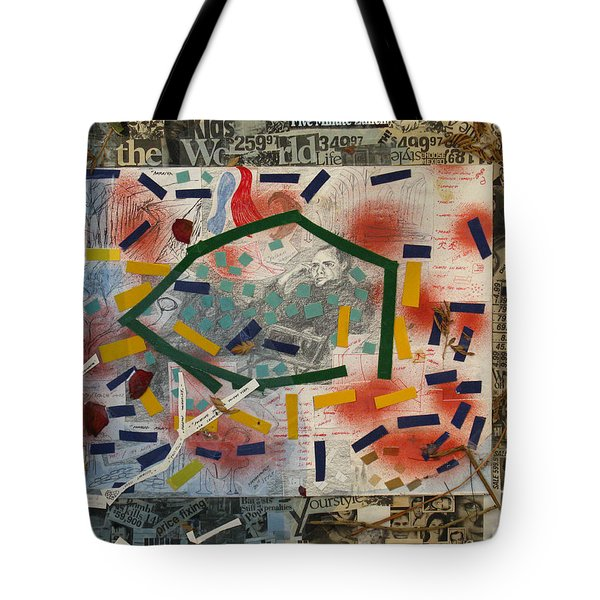 Man Watching Television Tote Bag