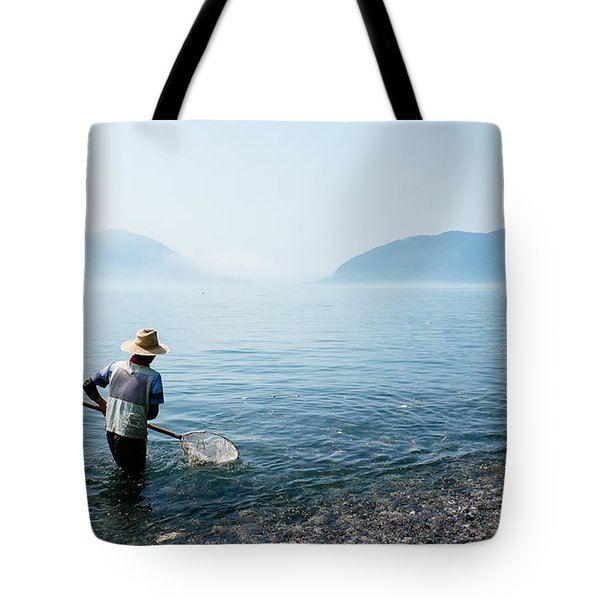 Man With A Net Tote Bag