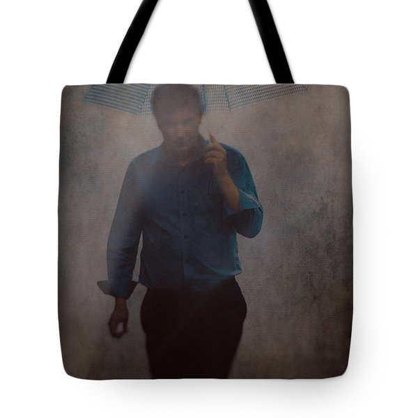 Man With An Umbrella Tote Bag