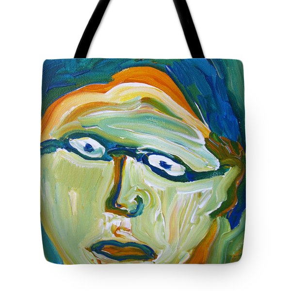 Man With Glasses Tote Bag by Shea Holliman