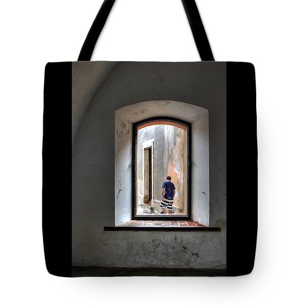 Man With The Black Striped Pajamas Tote Bag