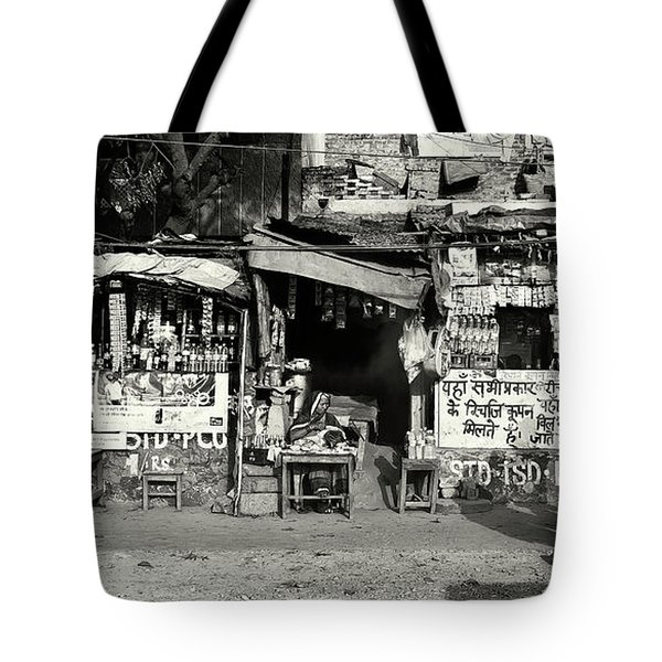 Man Woman And Schoolgirls Tote Bag