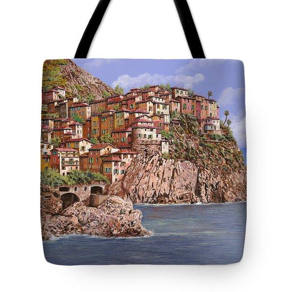Manarola   Tote Bag by Guido Borelli