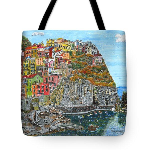 Manarola In Cinque Terra Tote Bag