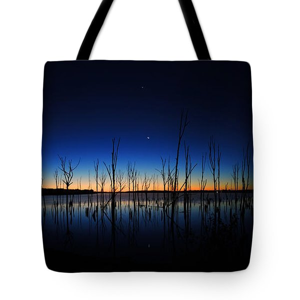 Tote Bag featuring the photograph Manasquan Reservoir At Dawn by Raymond Salani III