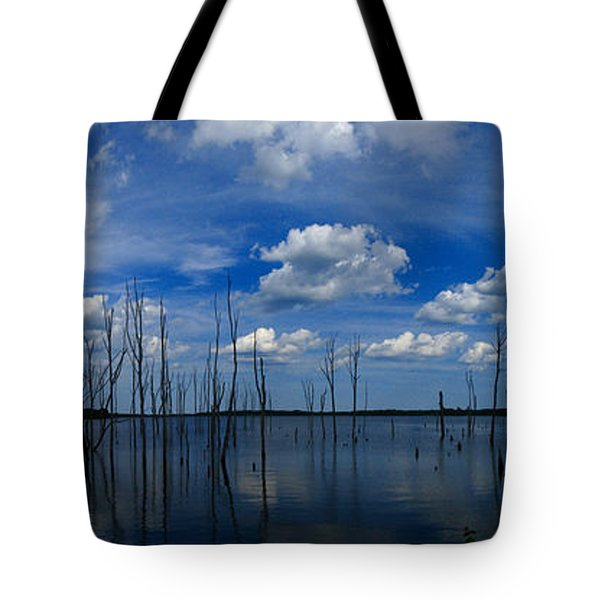 Manasquan Reservoir Panorama Tote Bag