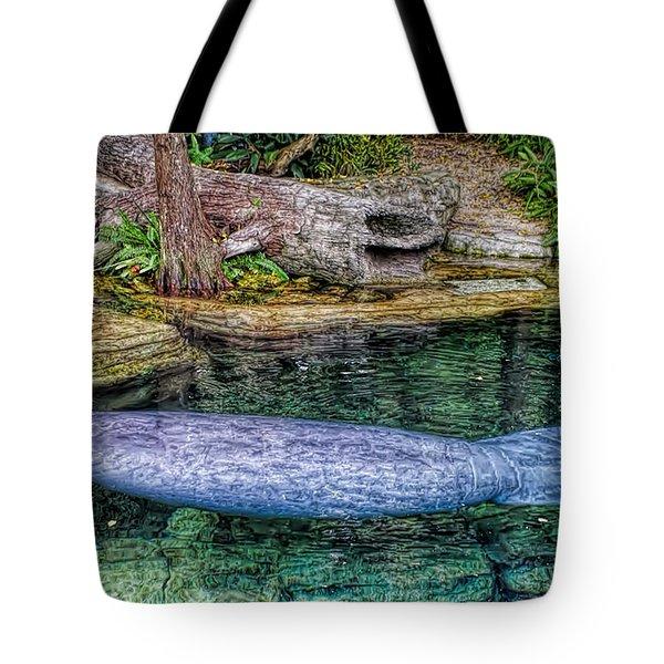 Manatee Tote Bag by Olga Hamilton