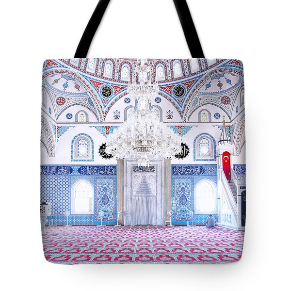 Manavgat Mosque Interior 01 Tote Bag by Antony McAulay