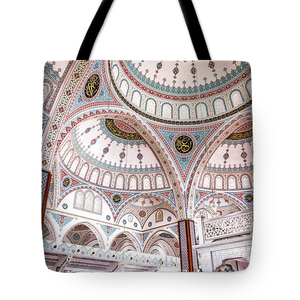 Manavgat Mosque Interior 02 Tote Bag by Antony McAulay