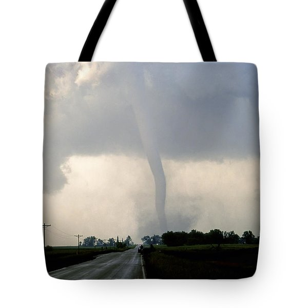 Manchester Tornado 1 Of 6 Tote Bag by Jason Politte