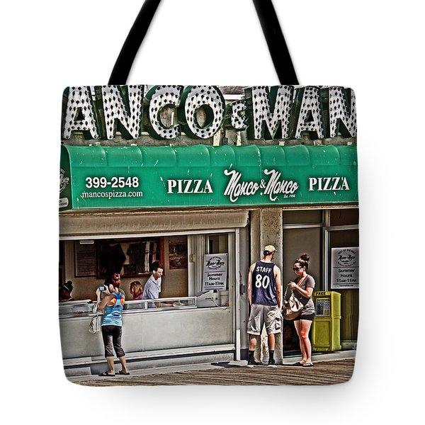 Manco And Manco Pizza Tote Bag