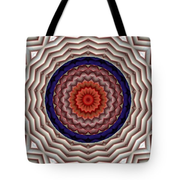 Tote Bag featuring the digital art Mandala 10 by Terry Reynoldson