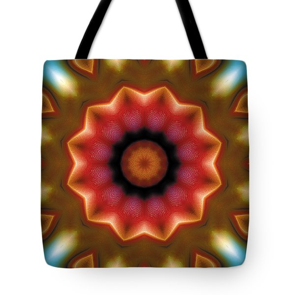 Tote Bag featuring the digital art Mandala 103 by Terry Reynoldson