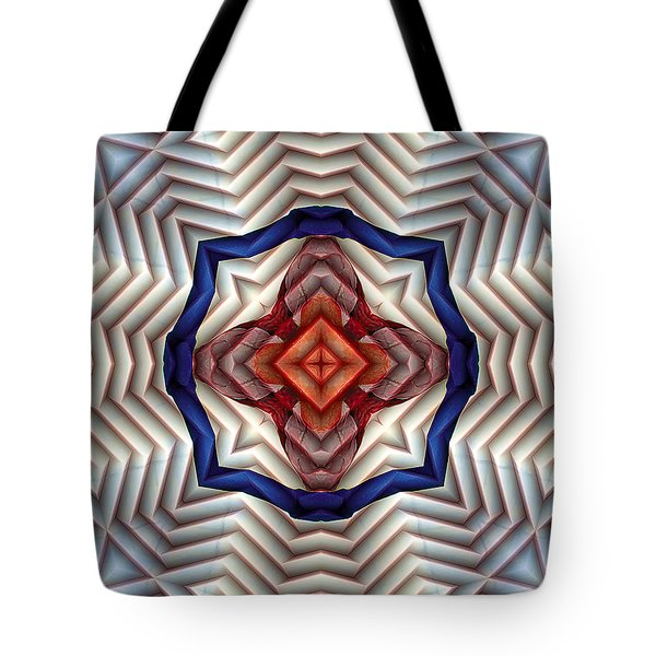 Tote Bag featuring the digital art Mandala 11 by Terry Reynoldson