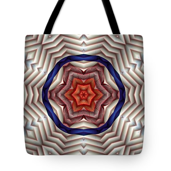 Tote Bag featuring the digital art Mandala 12 by Terry Reynoldson