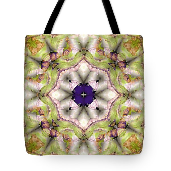 Tote Bag featuring the digital art Mandala 127 by Terry Reynoldson