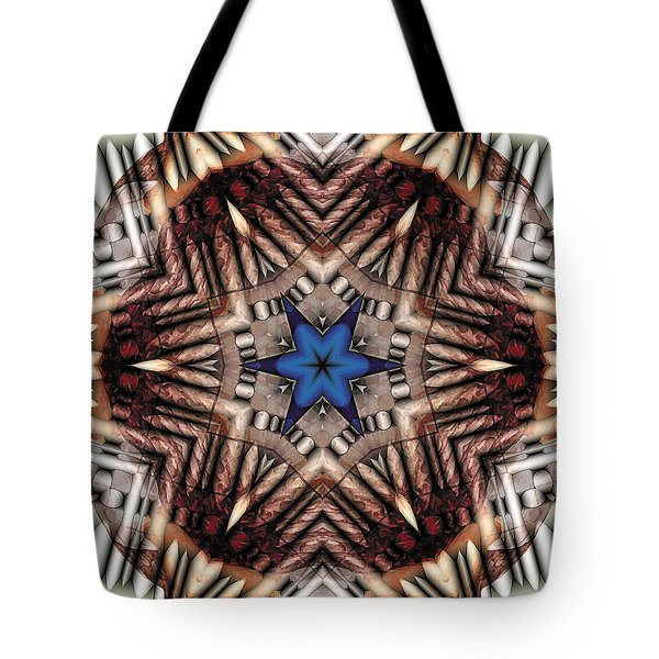 Tote Bag featuring the digital art Mandala 13 by Terry Reynoldson