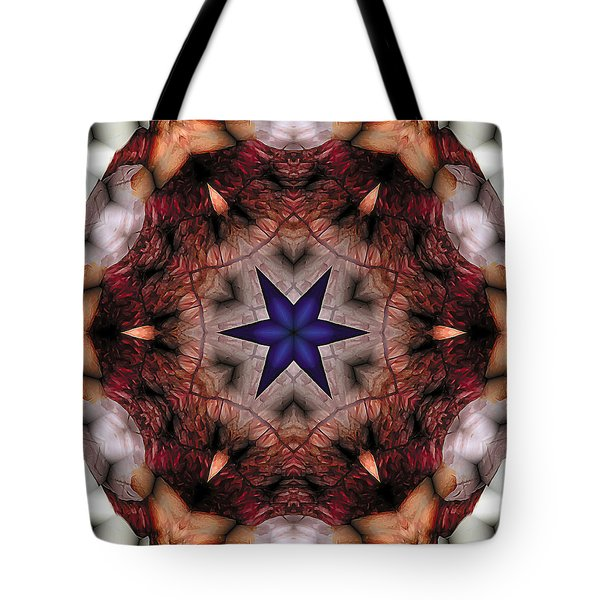 Tote Bag featuring the digital art Mandala 14 by Terry Reynoldson