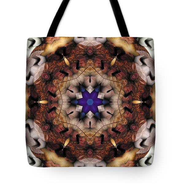 Tote Bag featuring the digital art Mandala 16 by Terry Reynoldson