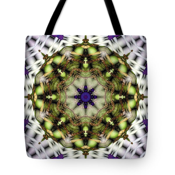 Tote Bag featuring the digital art Mandala 21 by Terry Reynoldson
