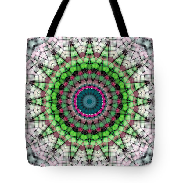 Tote Bag featuring the digital art Mandala 26 by Terry Reynoldson