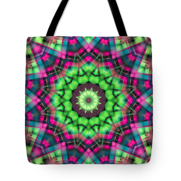 Tote Bag featuring the digital art Mandala 29 by Terry Reynoldson