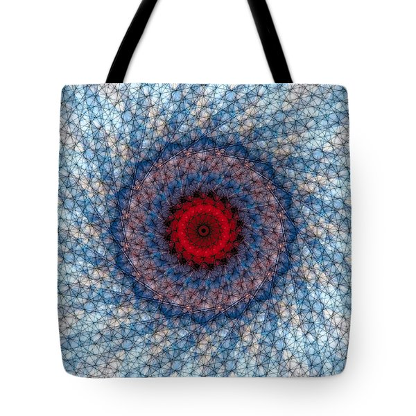 Tote Bag featuring the digital art Mandala 3 by Terry Reynoldson