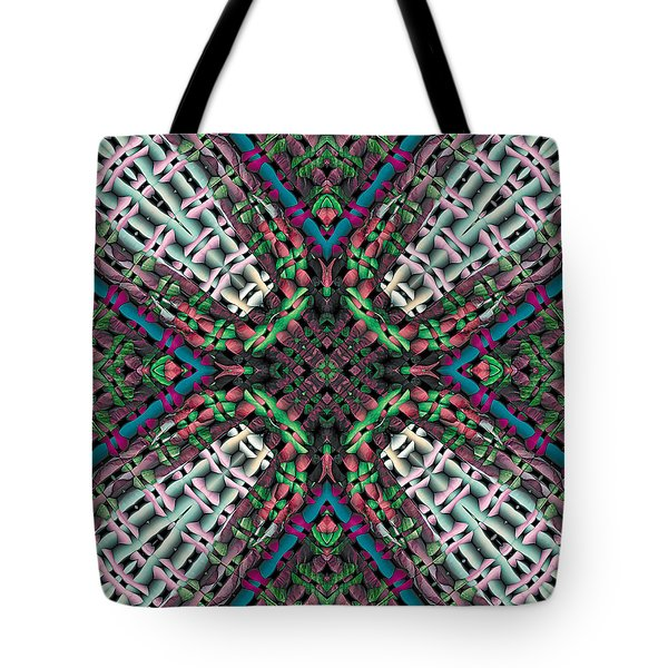 Tote Bag featuring the digital art Mandala 32 by Terry Reynoldson